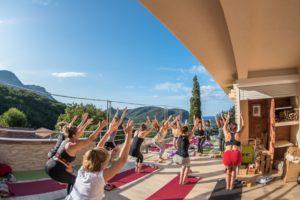 yogini practicing yoga in beautiful Montenegro