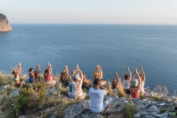 Benefits of yoga include having community