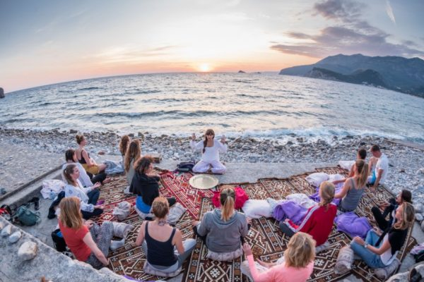Yoga-beach-sunset